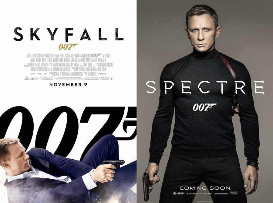 spectre and skyfall poster
