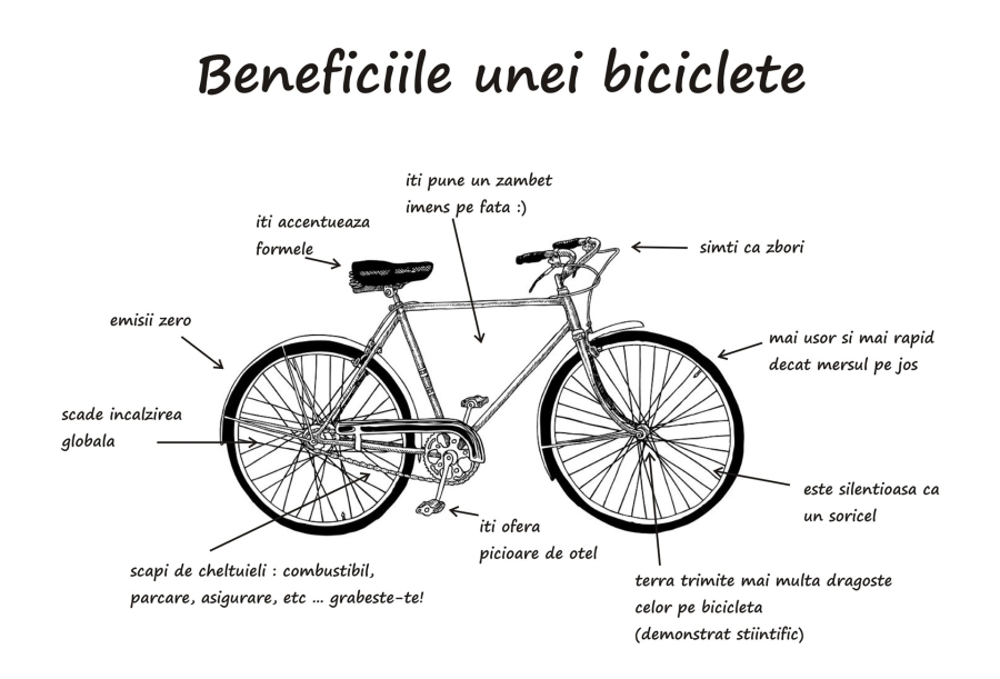 beneficiile bicicletei