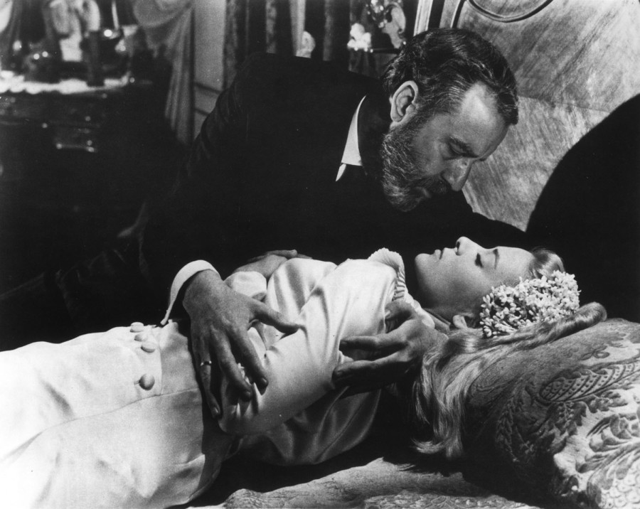 Francisco Rabal and Silvia Pinal in Luis Buñuel's VIRIDIANA.  Credit: Janus Films.  Playing 4/24 - 4/30.